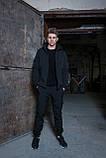 Мужской костюм черный демисезонный Softshell Intruder. Куртка мужская черная, штаны утепленные., фото 2
