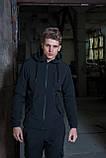 Мужской костюм черный демисезонный Softshell Intruder. Куртка мужская черная, штаны утепленные., фото 3