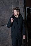 Мужской костюм черный демисезонный Softshell Intruder. Куртка мужская черная, штаны утепленные., фото 5
