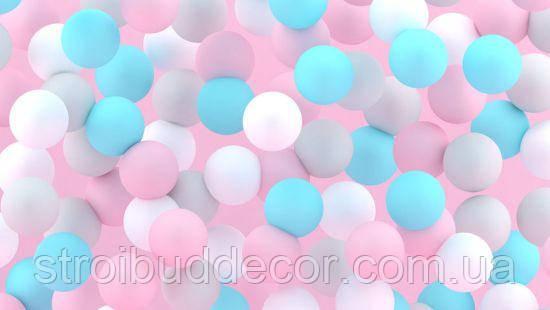 Фотообои 3Д разноцветные шары разные текстуры , индивидуальный размер