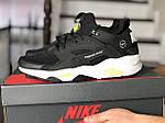 Чоловічі кросівки Nike Huarache Fragment Design (чорно-білий з жовтим) 8954, фото 2