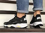 Чоловічі кросівки Nike Huarache Fragment Design (чорно-білий з жовтим) 8954, фото 3