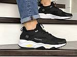 Чоловічі кросівки Nike Huarache Fragment Design (чорно-білий з жовтим) 8954, фото 4