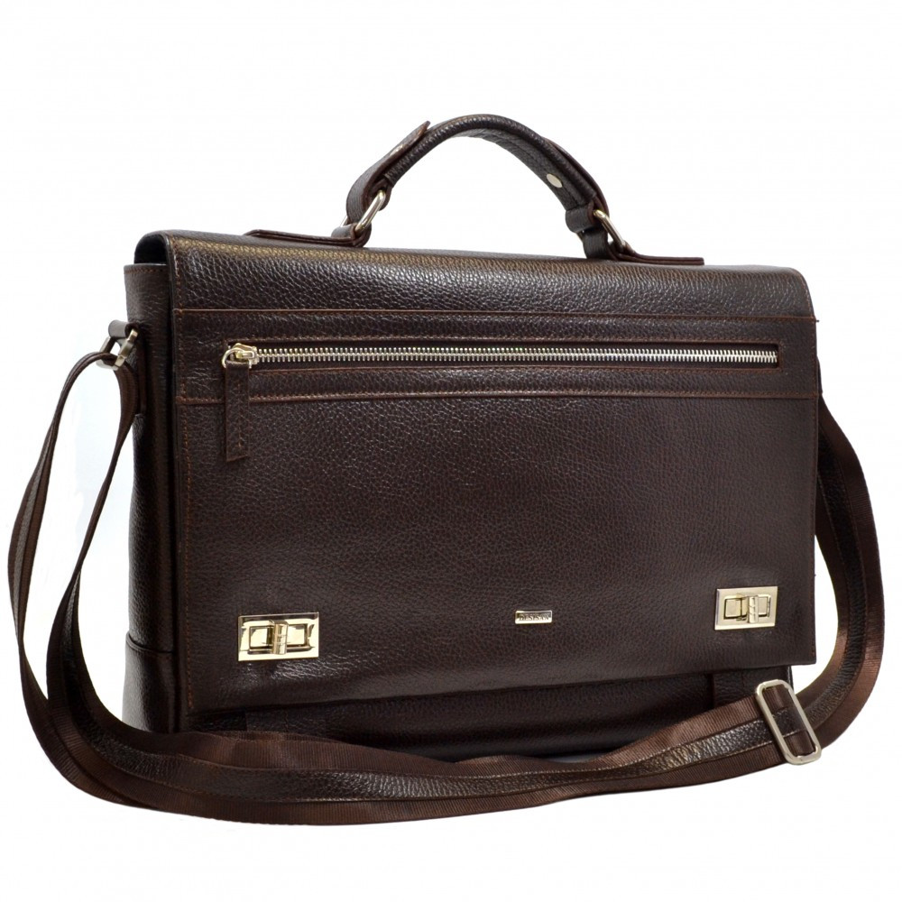 Кожаная деловая сумка Desisan