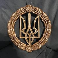 Декоративный герб Украины настенный из твёрдого полиуретана (бронзовый цвет)
