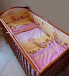 """Ткань польская  для детской постели с набивным рисунком """"слоник с зонтиком"""" цвет сиреневый, фото 3"""