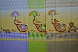 """Ткань польская  для детской постели с набивным рисунком """"слоник с зонтиком"""" цвет сиреневый, фото 6"""