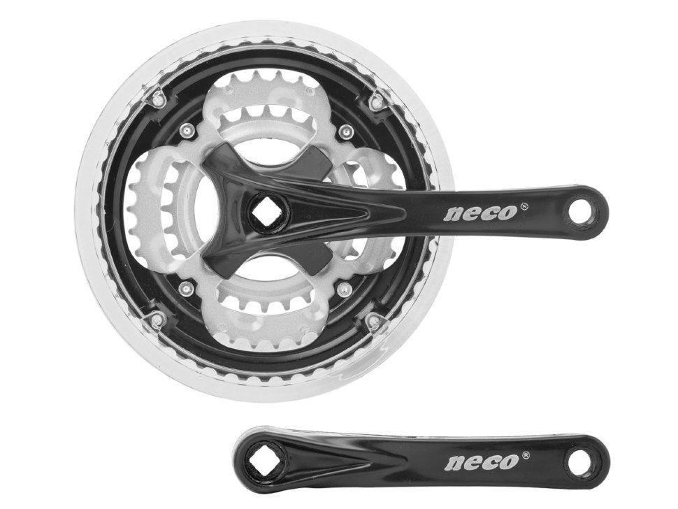 Шатуны велосипедные Neco NSS-3003 24/34/42T 170mm. черные (403299)