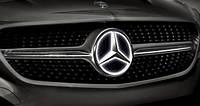 Эмблема в решетку радиатора с подсветкой для Mercedes A-class W176