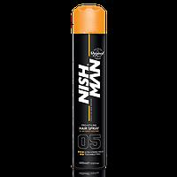 Спрей для фиксации волос Nishman Ultra Strong #05 (Очень Сильная Фиксация) 400 Мл
