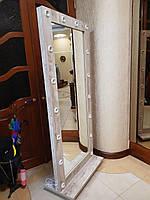 Дзеркало гримерное пересувне з підставкою на колесах 1880х800 ЛДСП Дерево Лофт