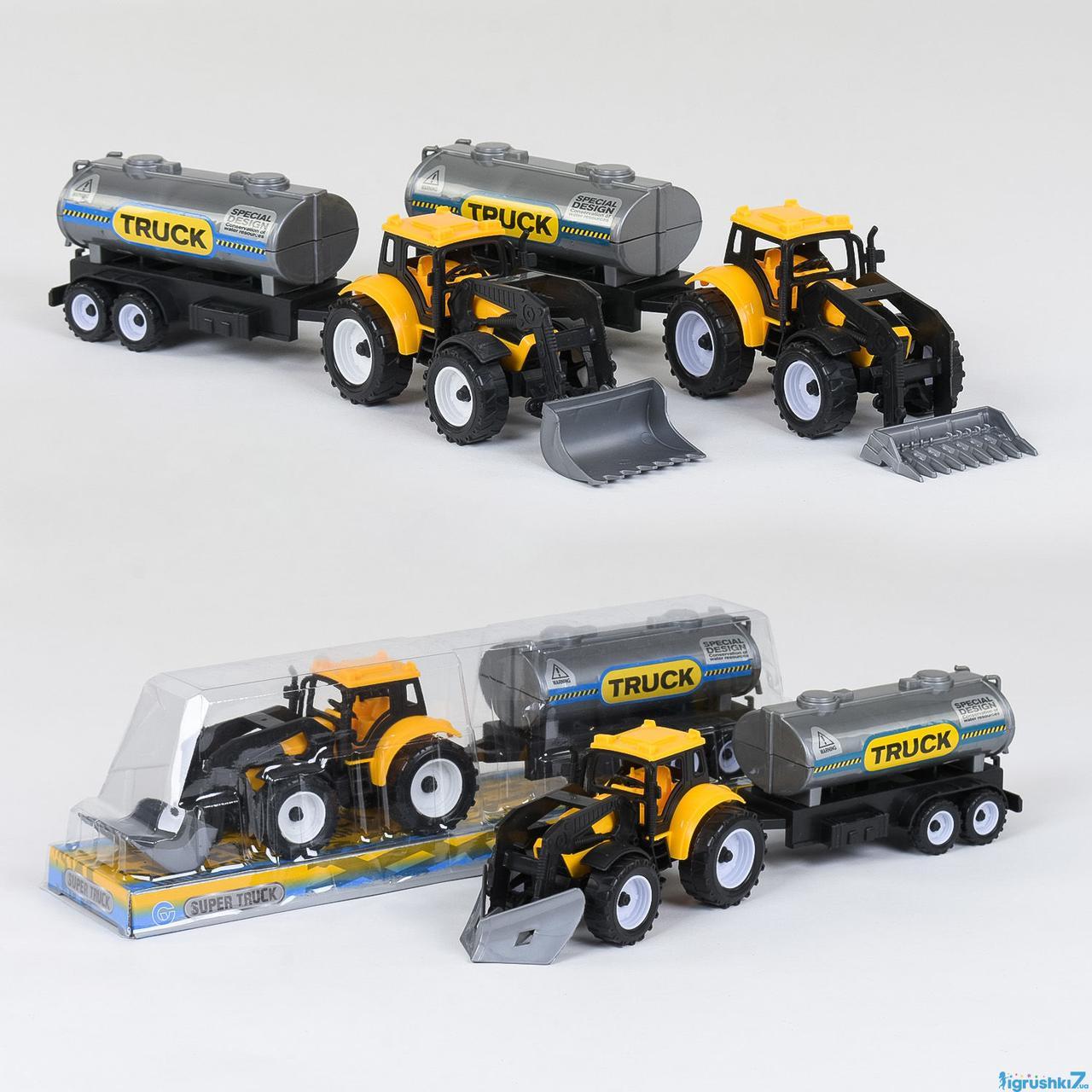 Трактор с бочкой 9980-4  инерционный, в слюде