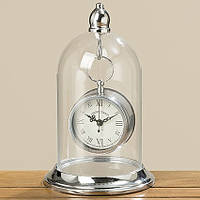 Часы Белина серебряный металл, стекло h26 см