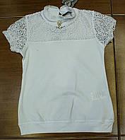 Нарядная трикотажная блузка рост 128.140.152.164, фото 1
