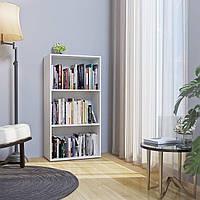 Стеллаж для дома, полка для книг из ДСП на 3 ячейки (4 ЦВЕТА) 600x1165x300 мм Возможны Ваши размеры