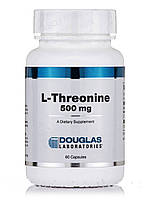 L-треонин 500 мг, L-Threonine, Douglas Laboratories, 60 капсул