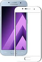 Защитное стекло 3D для Samsung Galaxy S9 G960 закаленное Белый