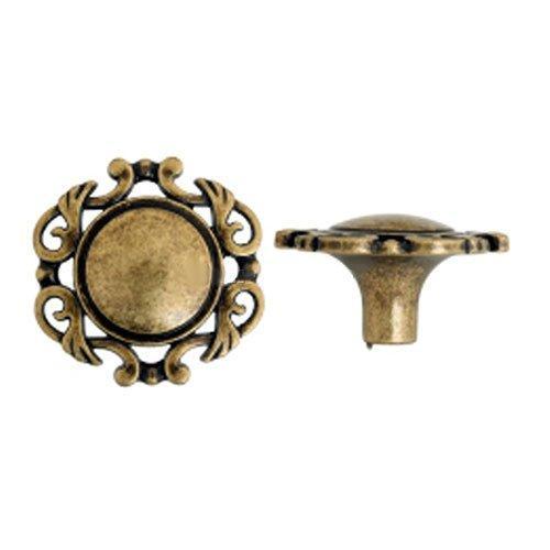 Ручка-кнопка стар.бронза d=40мм  GIUSTI