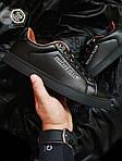 Мужские кроссовки Philipp Plein (черные) 075PL, фото 3