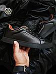 Мужские кроссовки Philipp Plein (черные) 075PL, фото 5