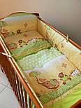 """Лоскут ткани  для детской постели с набивным рисунком """"слоник с зонтиком"""" цвет голубой, размер 78*36 см., фото 3"""