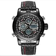 Водонепроницаемые армейские часы AMST AM3022 Black&Red