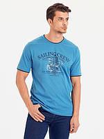Голубая мужская футболка LC Waikiki / ЛС Вайкики Saling Crew, фото 1