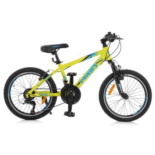 """Велосипед Profi 20"""" G20PLAIN A20.1 для детей и подростков спортивный салатовый"""
