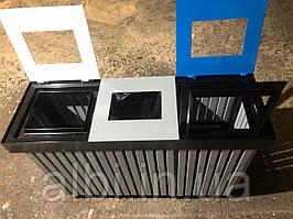 Контейнер тройной Рама для сортировки отходов
