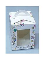 Коробка для упаковки пасхи 140*140*180 мелованная ВК