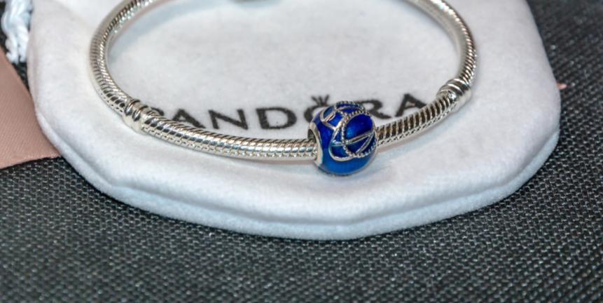 Шарм бусина серебро подвеска для браслета Pandora Пандора серебряная
