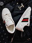Чоловічі кросівки Gucci (білі) 072PL, фото 6