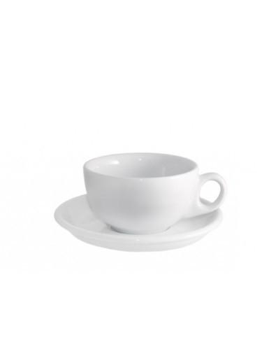 Чашка белая для американо 200 мл с блюдцем 145 мм Ameryka Lubiana (101,112)