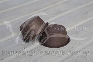 Коричневые бумажные формы с усиленным бортиком