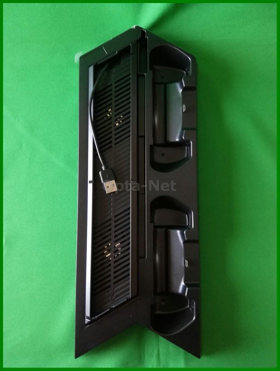 Подставка для PS4/ PS4 Slim (с охлаждением консоли)+ Док-Станция для геймпадов Dualshock 4
