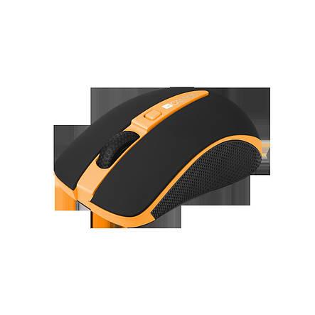 Мышь беспроводная Canyon CNS-CMSW6O Orange USB, фото 2