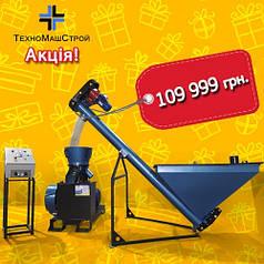 Гранулятор GRAND 300 + Шнек подачи + Пульт. Линия Гранулирования пеллет (комбикорма)