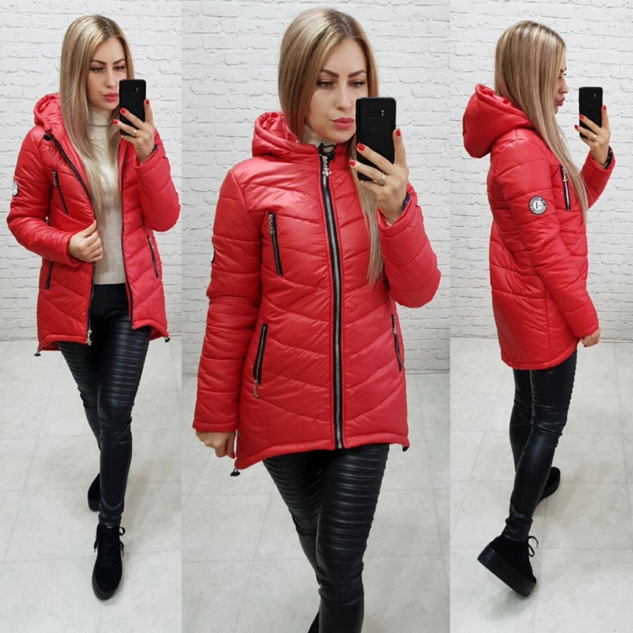 Куртка-парка (арт. 300) красная / красного цвета