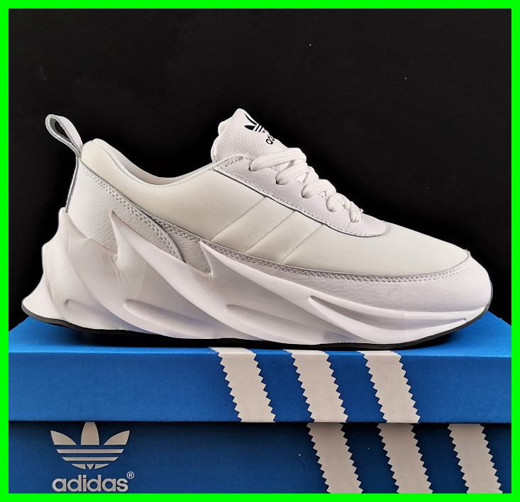 Кроссовки Adidas $harks Мужские Адидас Бело Акулы (размеры: 41,42,43,44,45) Видео Обзор