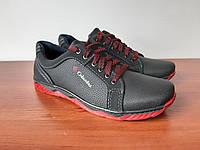 Туфли мужские черные спортивные удобные (код 2567), фото 1