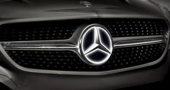 Эмблема в решетку радиатора с подсветкой для Mercedes GL-class X166