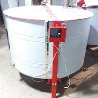 Медогонка16-ти рамочная автоматическая нержавеющая (ротор Н/Ж, с крышкой) под рамку «ДАДАН» РЕМЕНАЯ