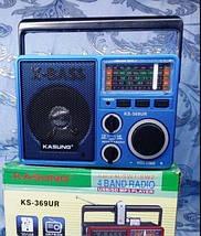 Радио MP3/SD card/USB/AUX Kasung Ks-369 + фонарик Мощный звук Радиоприемник Kasung Ks-369 FM SW 1 SW 2 AM, фото 3