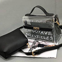 Оригинальная прозрачная сумка сундук с клатчем