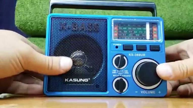 Радио MP3/SD card/USB/AUX Kasung Ks-369 + фонарик Мощный звук Радиоприемник Kasung Ks-369 FM SW 1 SW 2 AM, фото 2