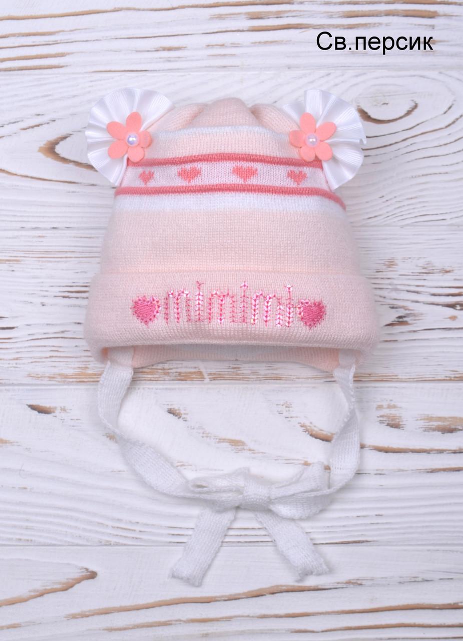 Вязаная шапочка для новорождённых
