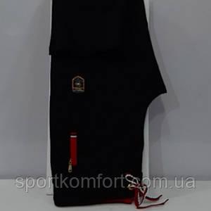 Жіночі спортивні прогулянкові штанці TOMMY LIFE, Туреччина, чорні з червоною обробкою.
