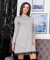 Обворожительное платье для женщин из ангоры с длинным рукавом 50-52 р