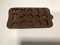Форма силиконовая для льда и конфет Ассорти из 15 шт