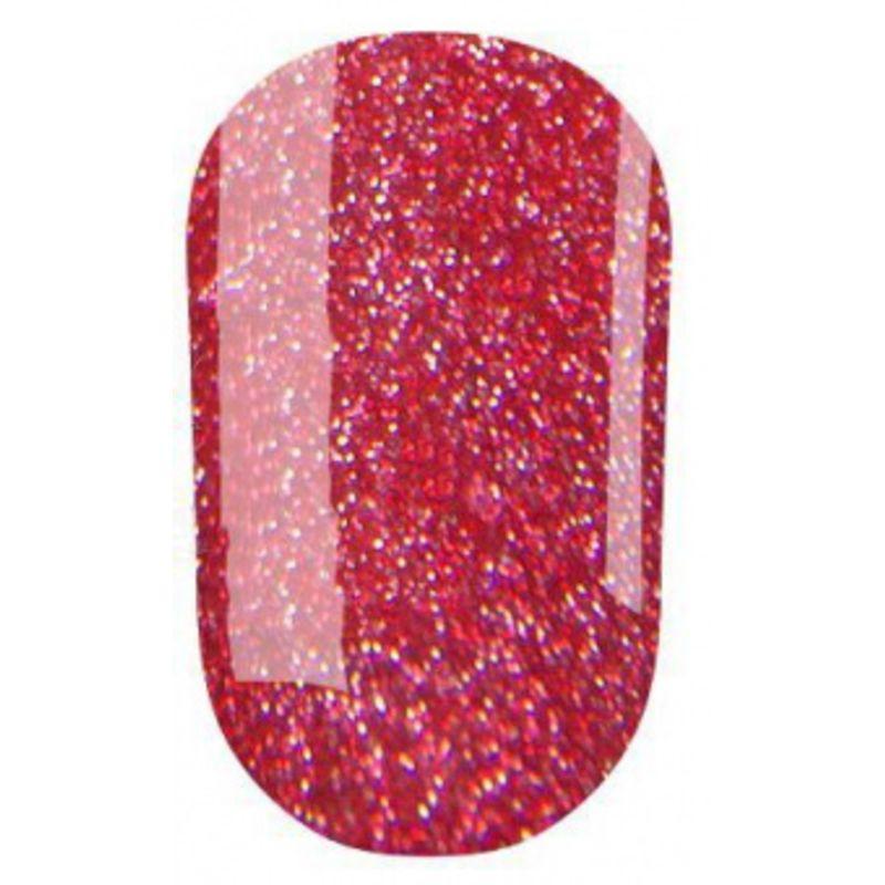 Гель-лак Oxxi Professional №204 светлый красный с мелкими насыщенными голографическими блестками, 10 мл